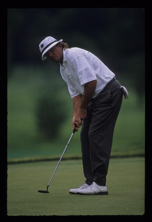 Tommy Armour putting during the 1989 US Open