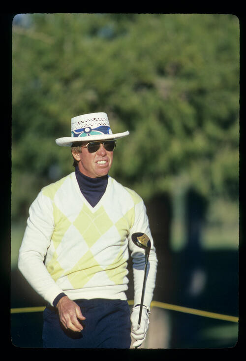 Butch Baird watching from the tee during the 1982 Phoenix Open