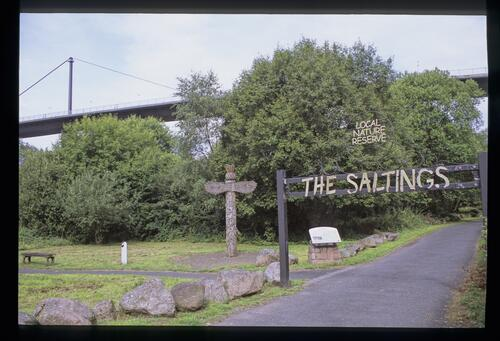 The entrance to the Saltings, Erskine.