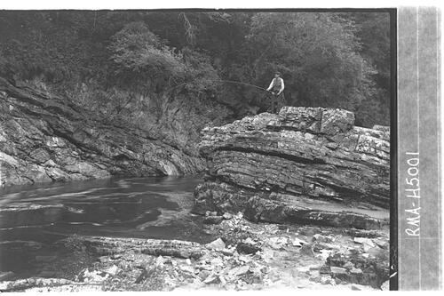Fisherman. River Tilt, Atholl.