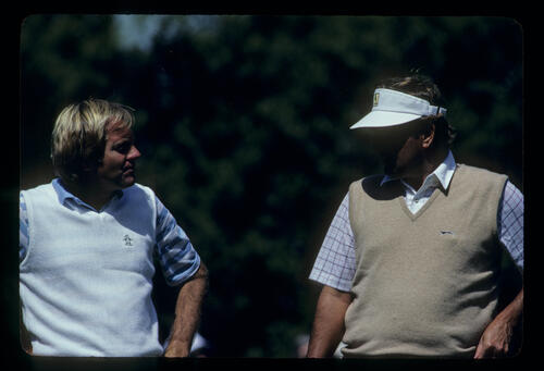 Keith Fergus and Ray Floyd during the 1983 Masters