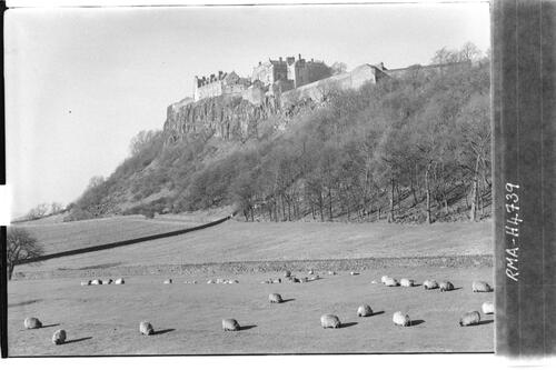 Stirling Castle from south.