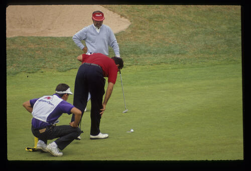 Antonio Garrido on the green during the 1990 NM English Open