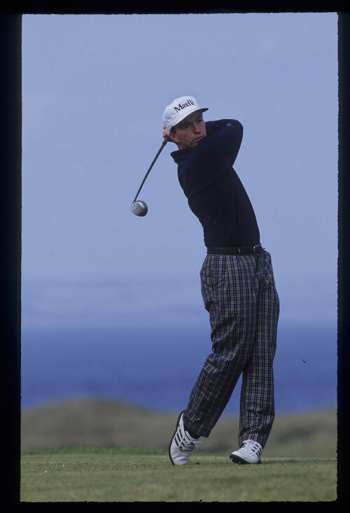 David Gilford following through on the tee during the 1992 Open Championship