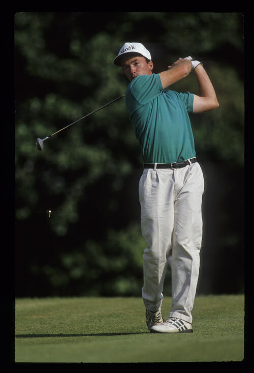 David Gilford following through on his way to winning the 1991 NM English Open