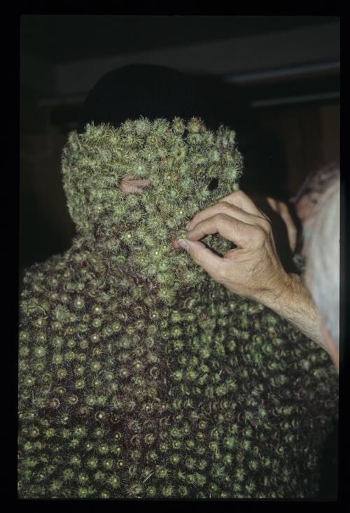 The head of the Burry Man, South Queensferry.