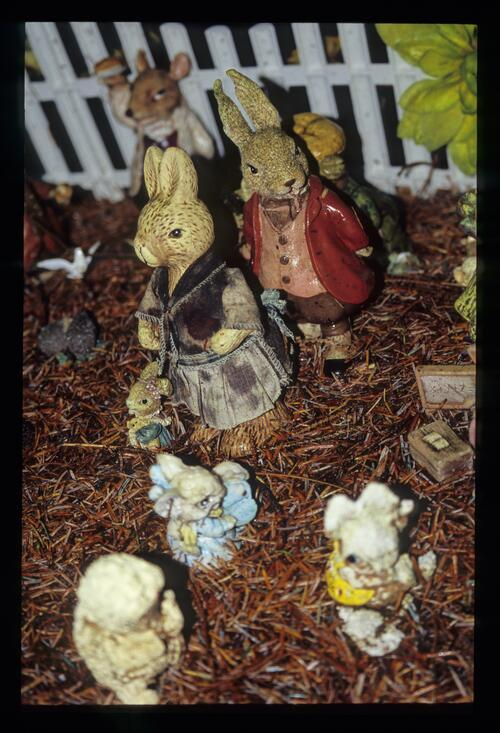 Beatrix Potter figures, the Fairy Forest [Fort William] The Great Glen.
