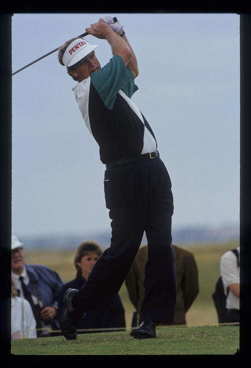 Wayne Grady following through on the tee during the 1993 Open Championship
