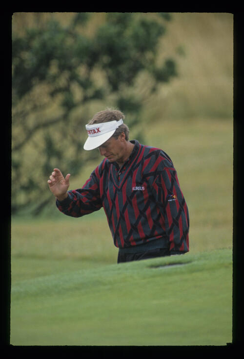 Wayne Grady in a bunker during the 1993 Open Championship