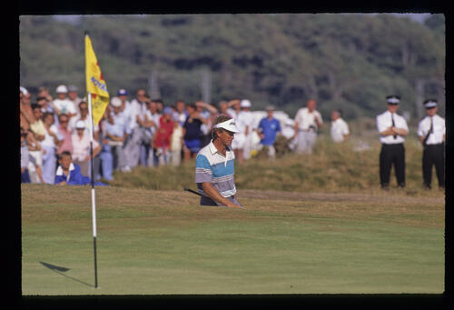 Wayne Grady in a bunker during the 1989 Open Championship