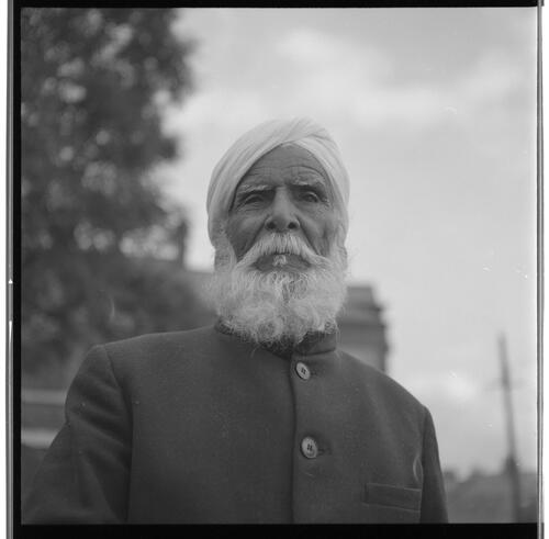 [Portrait of an unidentified man with a white beard and a turban, Rye Hill]