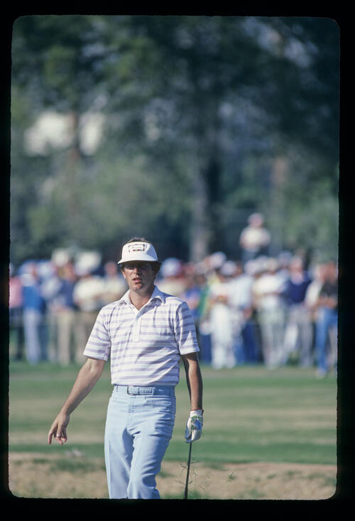 Jay Haas pitching to the green during the 1982 Phoenix Open
