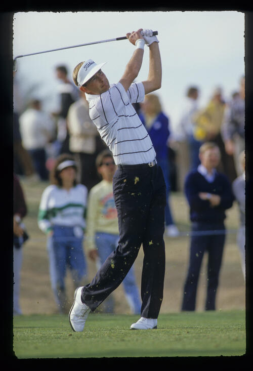 Ken Brown following through on the fairway during the 1987 Phoenix Open