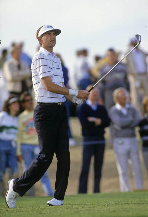 Ken Brown on the fairway during the 1987 Phoenix Open