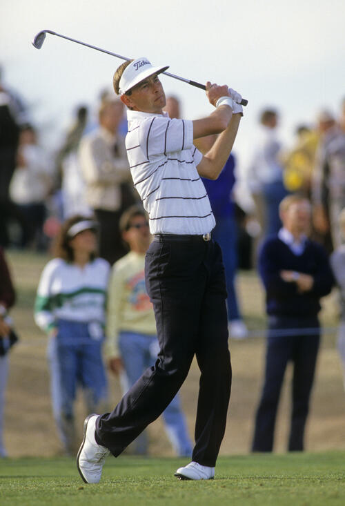 Ken Brown following through during the 1987 Phoenix Open