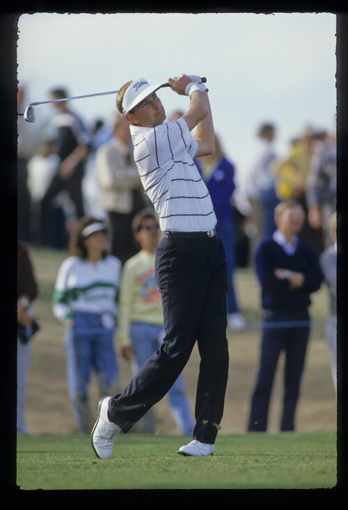 Ken Brown holding his form during the 1987 Phoenix Open