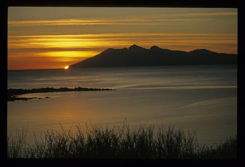 The Cuillins from Ord, Skye.