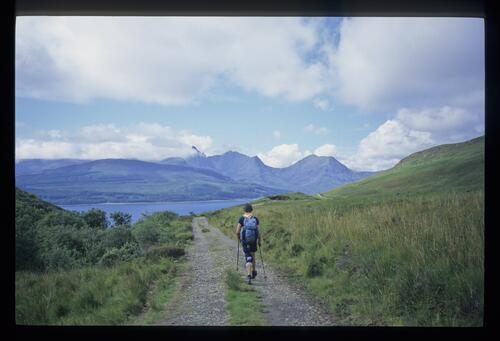 On the Suisnish track, Skye.