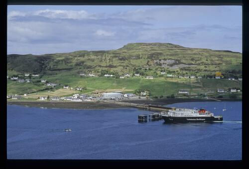 Uig Bay and the Stornoway Ferry to the Outer Hebrides, Skye.