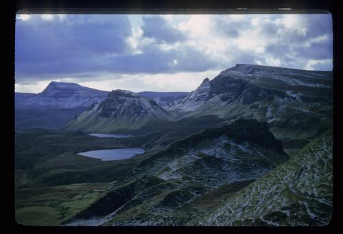The Trotternish Hills, seen from the Quirang, north Skye.
