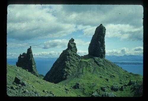 Storr Rocks, Skye. From left the Needle and the Old Man.