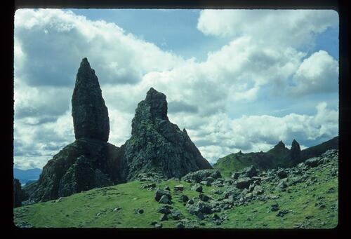 The Storr Rocks from the North, Skye.