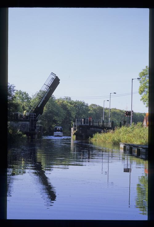 The Twechar lifting bridge, Forth and Clyde Canal.