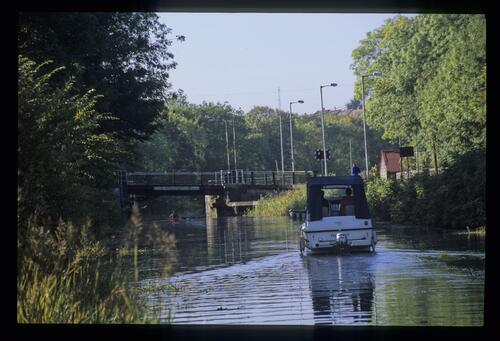 The lifting bridge and Tweghar, Forth and Clyde Canal.