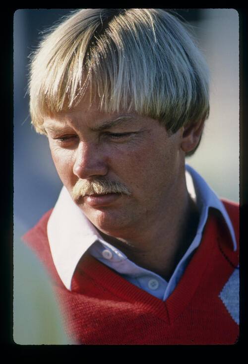 A close up of John Mahaffey during the 1984 Phoenix Open
