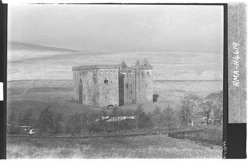 Hermitage Castle from south.