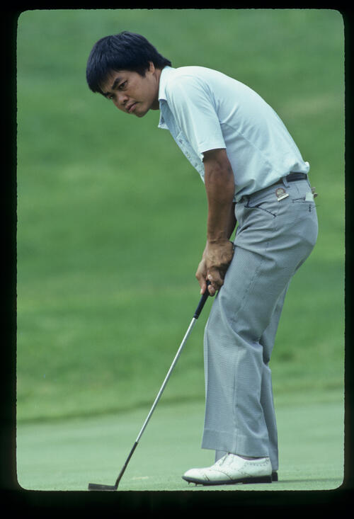 Master Lu putting during the 1981 US Open
