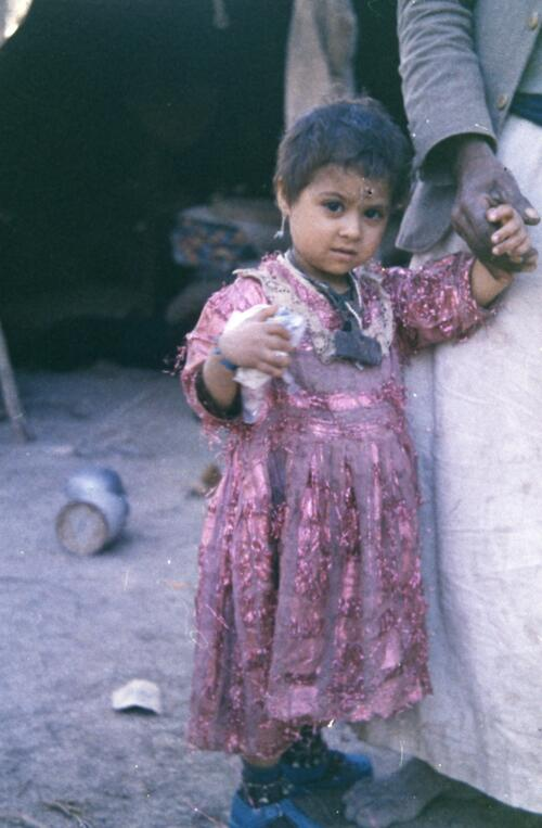 Unidentified Bedouin young girl