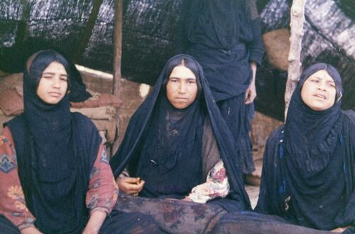 Three unidentified Bedouin women