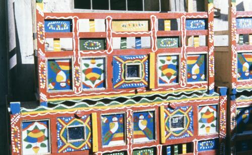 Unidentified painted wooden Islamic textiles