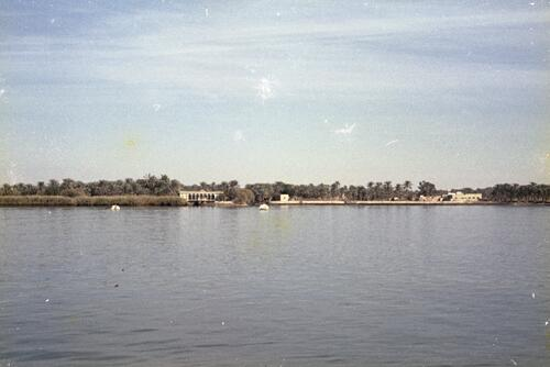 General view of a coast along a river near the marshlands of Southern Iraq