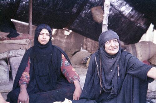 Two unidentified Bedouin women