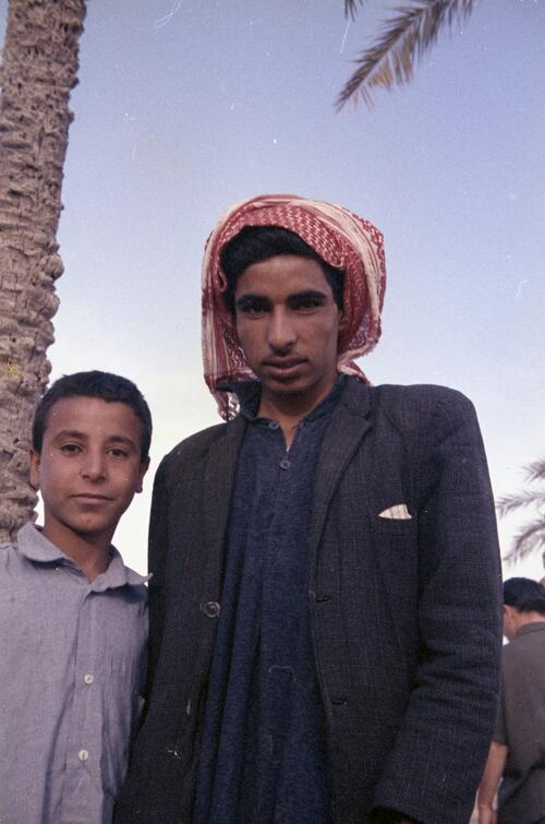 Two unidentified Bedouin young men