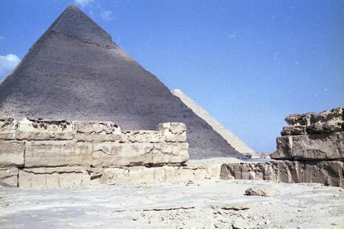 General view of the Great Pyramids