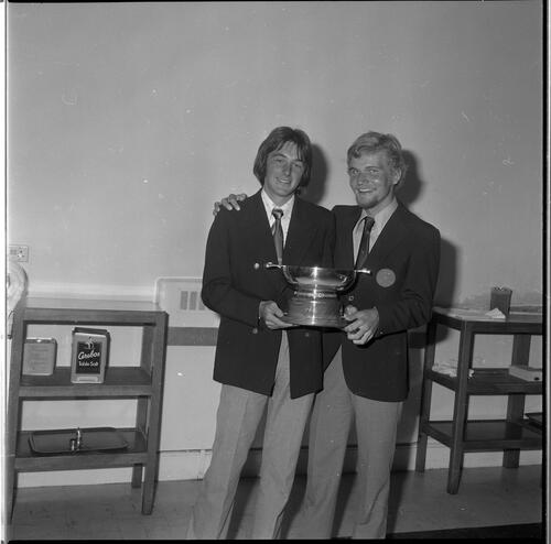 Boyd Quaich Winner Gordon Cairns, with another man