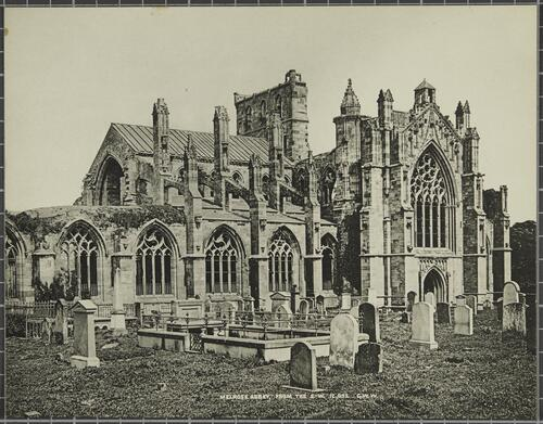 Melrose Abbey, From the South West