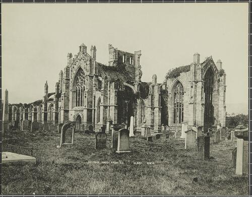 Melrose Abbey, from South East