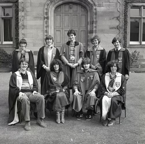 Students' Representative Council Executives [1980], United College Quadrangle, University of St Andrews, St Andrews.