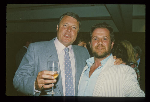 Lawrence Levy with Peter Alliss