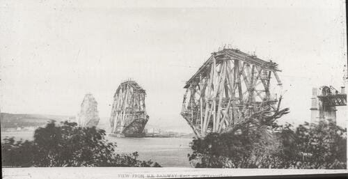 View from N.B. (North British) Railway east of Queensferry [Forth Bridge].