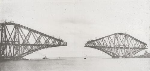Queensferry and Inch Garvie cantilever arms, showing end posts [Forth Bridge].