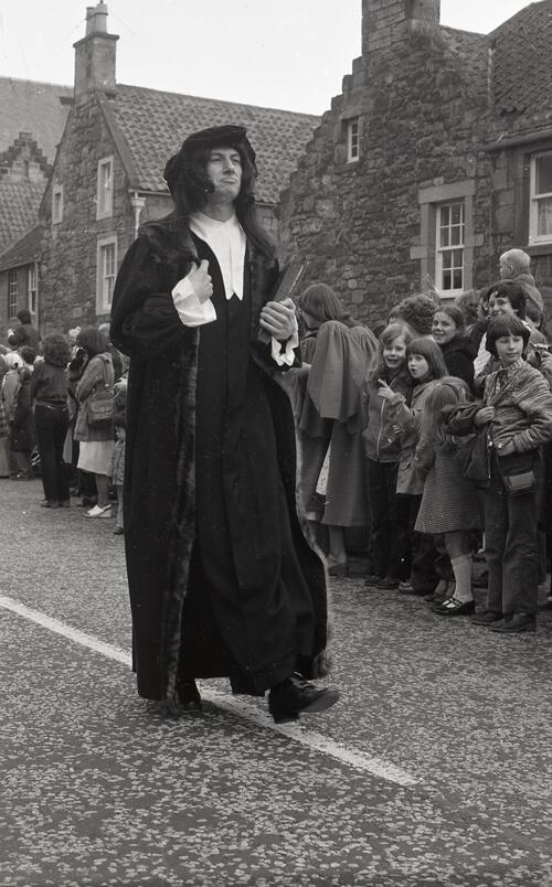 John Knox, the Kate Kennedy Procession, North Street, St Andrews.