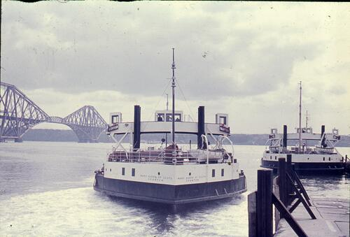 """Mary Queen of Scots"" (motor vessel) and a sister ship [Queen Margaret] at North Queensferry"