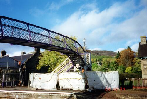 Kingussie Railway Station during restoration.