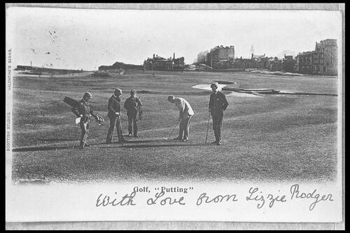 "Golf ""Putting"", St Andrews."