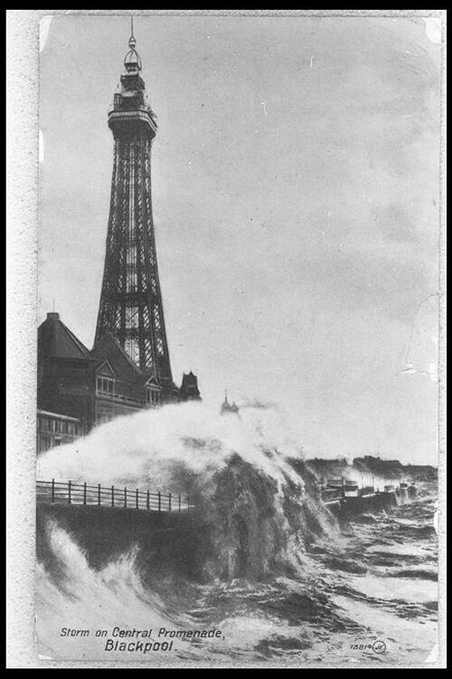 Storm on Central Promenade, Blackpool.